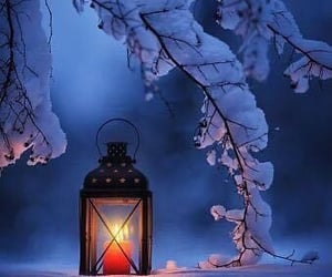 candle, cold, and winter image