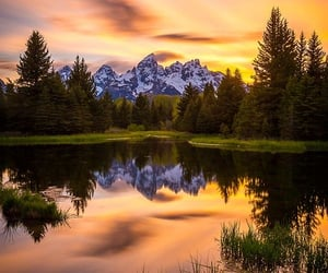 lake, mountain, and photography image