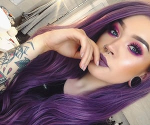 beauty, goth, and purple image