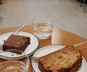 bread, brownies, and cafe image