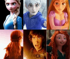 anna, jack frost, and merida image