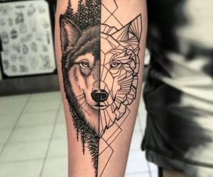 Tattoos, wolf, and tatuajes image