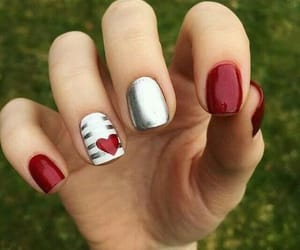 nails, hearts, and nail art image