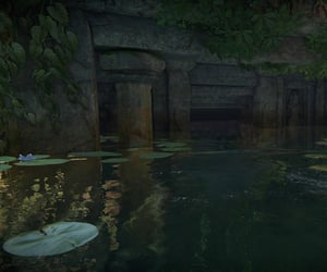flooded, Temple, and uncharted image