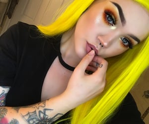 beauty, eyeshadow, and gold image