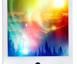 colorful, polaroid, and sunset image