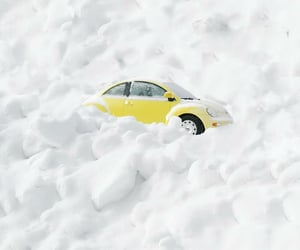 automobiles, snow, and volkswagen image