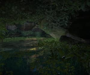 cave, ripple, and water image