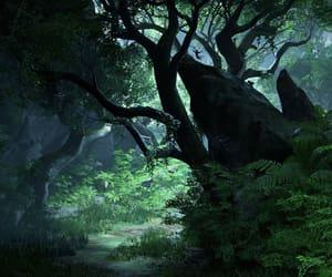 adventure, dark, and flora image