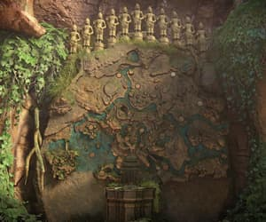 coins, overgrown, and Temple image