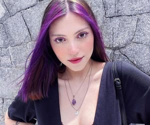 colored hair, purple, and purple hair image