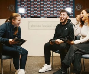 athlete, interview, and laugh image