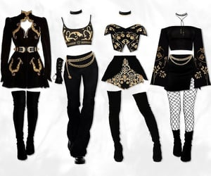 fashion and group outfits.black image