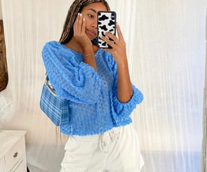 electric blue, outfit inspo, and fashion image