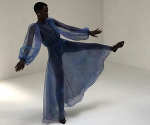 dress, electric blue, and fashion image