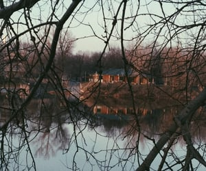 autumn, lake, and photo image