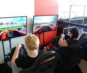 party supplies, racing simulator, and party hire image