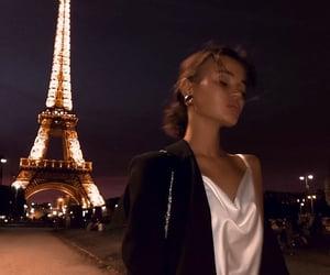 dress, paris, and evening image