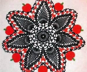 crochet, decoration, and table cover image
