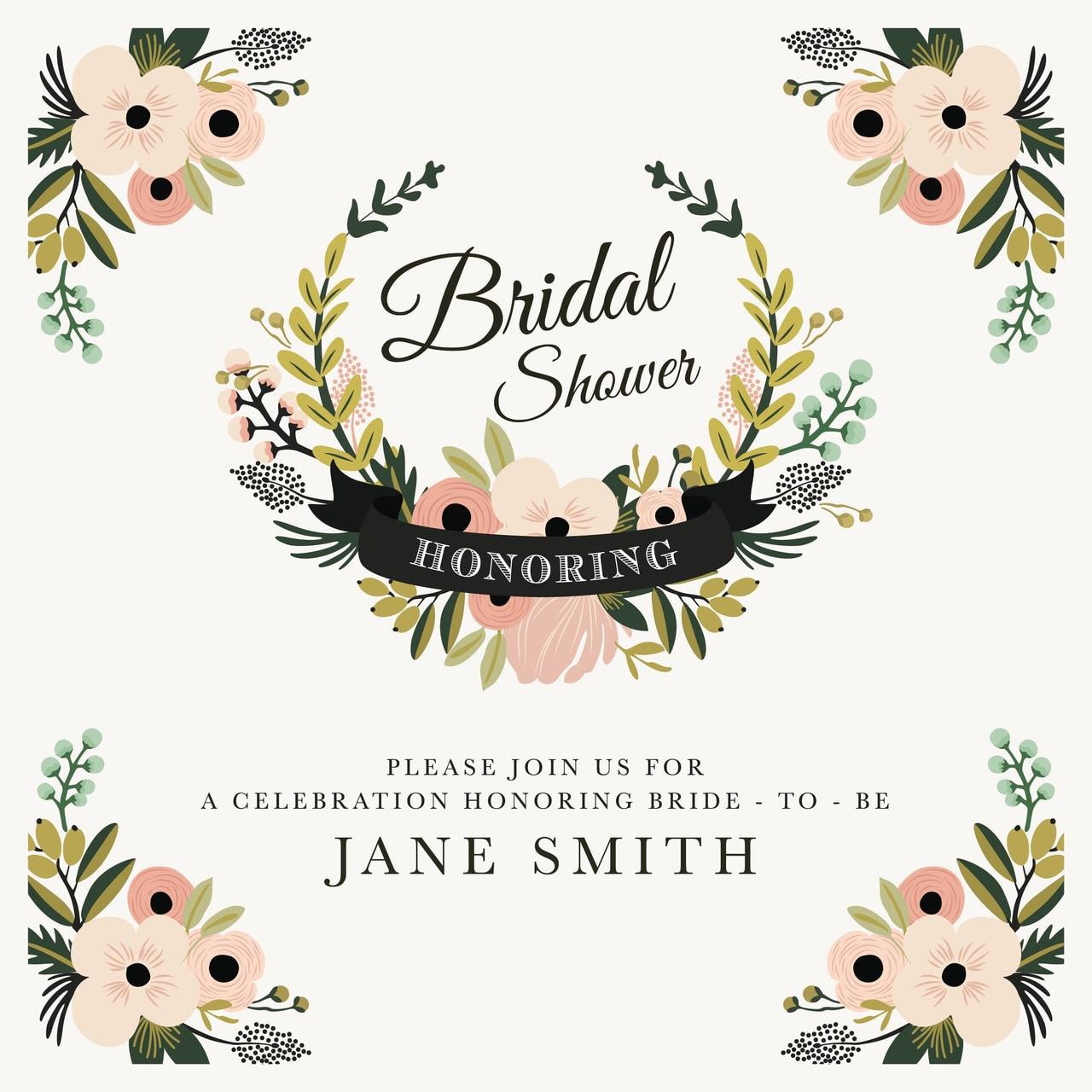 article, invitation, and bridal shower invitation image