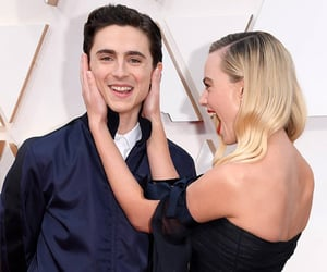 timothee chalamet, margot robbie, and oscars image