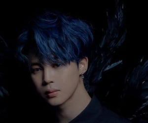 7, blue, and blue hair image
