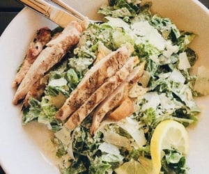 Chicken, food, and salad image