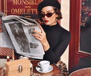 coffee, girl, and fashion image