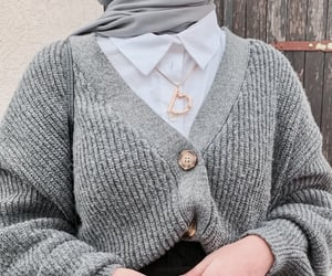 accessories, cardigan, and details image