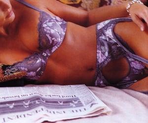 bra, newspaper, and retro image