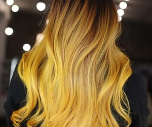 yellow hair and sunflower hair color image