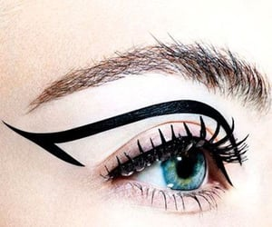 black, eye liner, and lovely image