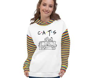 etsy, striped hoodie, and fashion image
