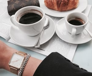 bracelet, coffee, and fashion image