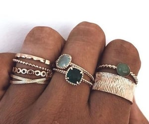 rings, girl, and jewelry image