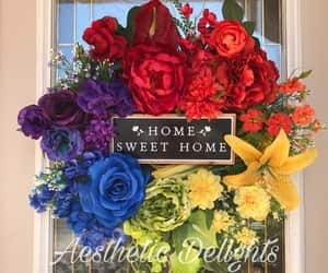 etsy, floral wreath, and front door wreath image