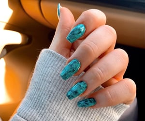 art, blue, and blue nails image