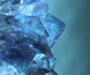 blue and crystal image