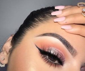 beauty, eyeshadow, and long image