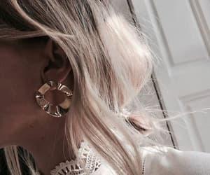 beautiful, earings, and fashion girl image
