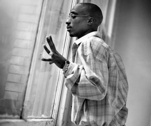 2pac, music, and black and white image