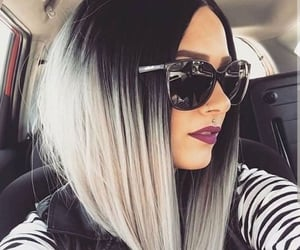 alternative, hair color, and lob image