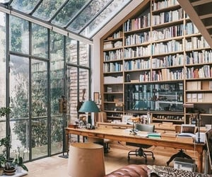 books, home, and architecture image