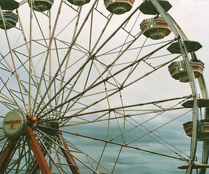photography, ferris wheel, and sky image