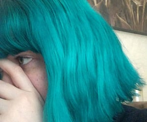 hair, turquoise, and teal image