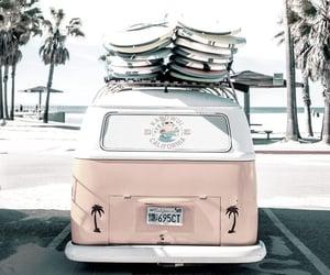 california, beach, and car image
