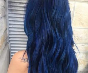 blue, dark blue, and hair image