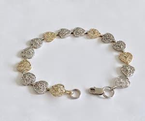 etsy, heart bracelet, and tennis bracelet image