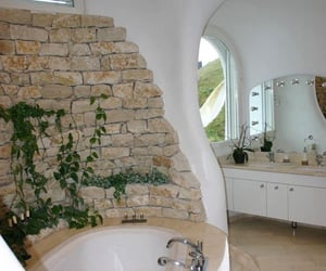 architecture, bathroom, and chic image