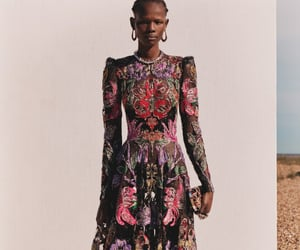 Alexander McQueen, gold, and model image